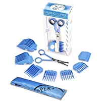 """CALMING CLIPPER 10pc Haircutting Kit for Sensory Sensitivity - Right-Handed With 4.5"""" Safety Scissor"""