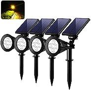 4 LED Solar Waterproof Garden Yark Lawn Outdoor Path Lamp Landscape Spot Light - 4pcs