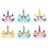 VWH Mixed 12 Paillettes Masque Licorne Party Chapeau D'anniversaire