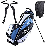 """ReaseJoy 13 Golf Club Stand/Carry Bag 14-Way Divider 600D Nylon 5lbs 15""""x11.8""""x35.4"""""""