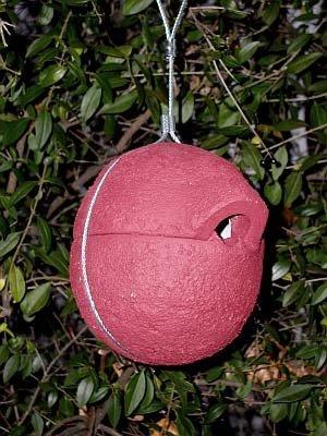 Zaunkönig-Nistkasten, Nisthilfe, Zaunkönigkugel Z1 rot (Vogel Tierbedarf)