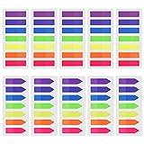1400 Stück Haftmarker Film Index Flaggen Pfeil Tabs Farbige Haftnotizen Beschreibbare Tabs für Seitenmarkierung, 10 Set, 7 Farbe