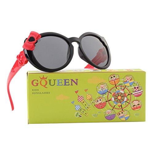 GQUEEN Gummi Flexible Polarisierte Kinder Sonnenbrille für Jungen Mädchen Baby und Kinder Alter 3-10,ET60