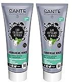 Sante BIO Zahncreme Minze 2 x 75 ml gegen Karies, Parodontose und Zahnsteinbildung mild, frisch, günstig, pflegend