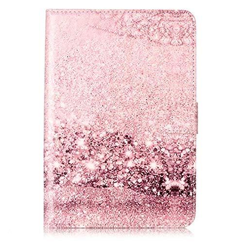 Felfy Kompatibel mit Handyhülle iPad Mini/Mini 2 / Mini 3 Hülle Marmor Original Flip Case PU Leder Bookstyle Ledertasche Elegant Marmor Retro Schutzhülle Ablösbar Handliche Book Case Tasche,Pink (Ipad Mini Tasche Pink Bling)