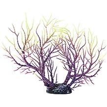 Acuario Pecera Artificial Coral Planta Acuatica Bajo Agua Ornamento Purpura