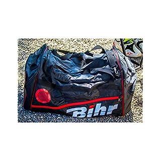 BIHR Reisetasche, großes Volumen, 128 l, 80 x 40 x 40 cm, Schwarz/Rot