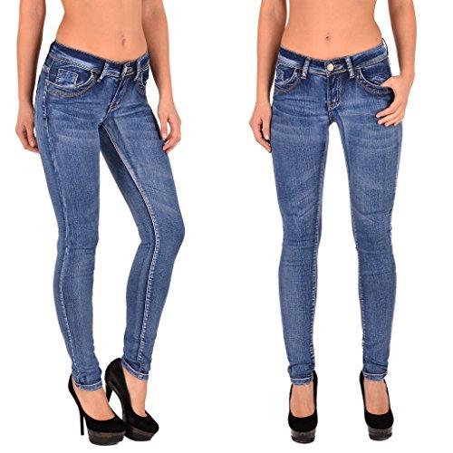 by-tex Jeans femme skinny Jean femmes pantalon en jean taille basse # S300 J106