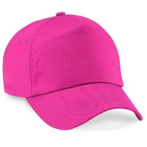 Casquette 4sold Unisexe Broderie Coton Baseball Cap GarçOns Filles Snapback Hip Hop Flat Hat Bonnet Fuschia