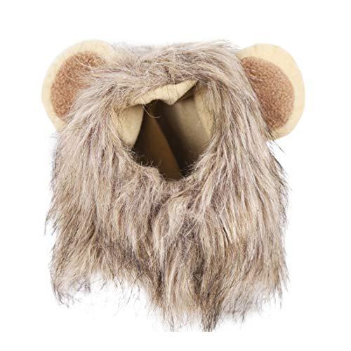 Weichuang Löwenmähne für Hund Hund Hund Kostüm Löwe Perücke für Hund Fancy Löwe Haar Hund Kleidung Kleid