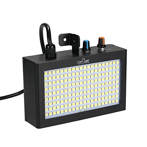 Tomshine 180 LED Luci Strobe Lampada Flash Auto Running Controllo del Suono Velocità Attivata Regolabile per Stage Disco DJ Mostra Partito Party Ktv Funzioni Matrimonio