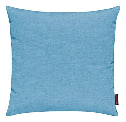 Fino Kissenhülle ca. 50 x 50 cm hochwertig & knitterarm Farbe (32 Türkis) 1 Stück (Kissenbezug 32)