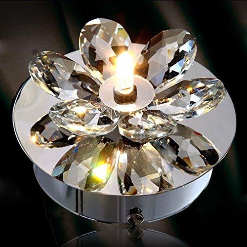 CNMKLM Moda Fiore di cristallo corridoio di luce da soffitto ingresso semplice lampada da soffitto camera da letto balcone Lampade da soffitto Lampade da parete