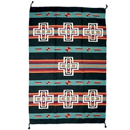 Teppich / Läufer im Stil der Navajo-Indianer - Wolle - Premium Southwest Cross I (Route 66-teppich)