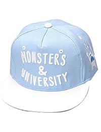 THENICE mujer Hip Hop letra sombrero Baseball Cap Gorra de tesa plana turquesa Talla:talla única