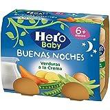 Hero Baby Buenas Noches Verduras a la Crema - Paquete de 2 x 190 gr - Total: 380 gr