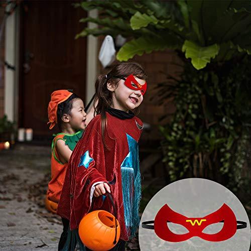 Imagen de pitaya máscaras de superhéroe, juguetes para niños y niñas , máscaras para niños, kit de valor de cosplay de diseño de fiesta de cumpleaños de navidad 36piezas alternativa
