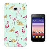 002655 - Collage Flamingo Pink & Gold Design Huawei Ascend