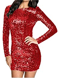 quality design d6da2 26558 Amazon.it: Elegante con Paillettes - Rosso / Vestiti / Donna ...