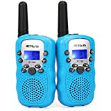 Retevis RT388 Kids Walkie Talkies PMR446 8 Channels Flashlight 10 Call Tones Kids Activities Garden Toys Suburbs Biking Camping Hiking for Boys Girls
