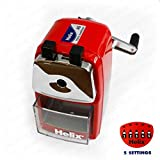 Helix Metal Desktop Pencil Sharpener - Red Body by Helix