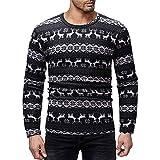Mantel Weihnachten Herren,❤️Binggong Herren Weihnachten Bedruckte T-Shirt Herbst Winter Pullover Top Bluse