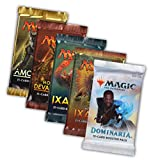 Magic the Gathering MTG Welcome Geschenk Set - 5 Booster Pack Dominaria Rivals Ixalan Hour of Devastation und Amonkhet - Englisch