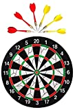 Farraige Wood and Metal 6-Darts Double-Sided Flocking 18-Inch Champion Tournament Dartboard (Multicolour)