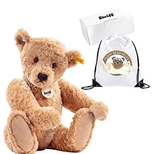Number One Authentic Steiff Elmar Teddy Bear - 40 cm and Reusable Gift Bag  - Full Of Charm - Ladies Women Lady Woman Her - Easter Present Gift Idea ... 66c9f12f83097
