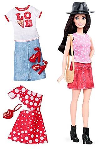 Mattel Barbie DTF03 Barbie Fashionistas Style Puppe und Moden mit