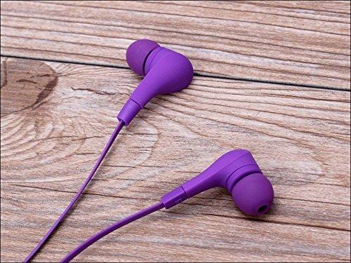 Violet Sport écouteurs intra-auriculaires antibruit avec écouteurs écouteurs Mains libres écouteurs intra-auriculaires 3,5mm W/appel mains libres Mic. Compatible avec