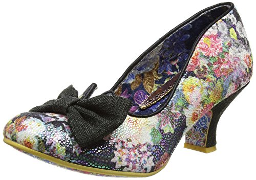 Irregular Choice Dazzle Razzle, Escarpins femme Black (Black Metallic Floral)