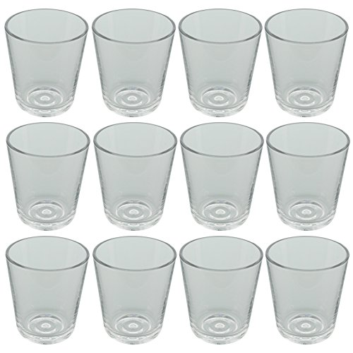Eva Solo 567422 Trinkgläser, 12 Stück, 250 ml, Gehärtetes-Glas, Transparent