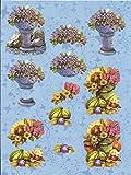 Nr.06 Blume Obst 3D Bogen 2 Motive Modell vorgestanzt DIN`A
