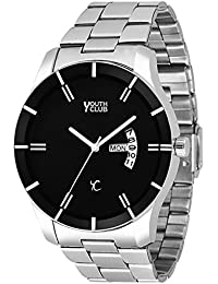 Youth Club DD-605BK New Casual Black Dial Day and Date Watch for Boys