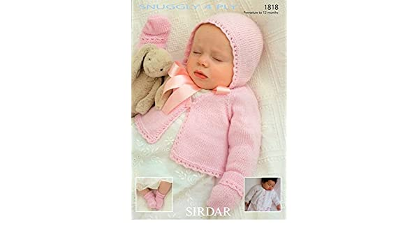 Amazon.de: Sirdar Snuggly 4PLZ Baby Strickmuster 1818