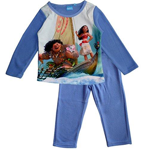 Disney Moana (Vaiana) Kids Polar Fleece Pijamas / Ropa de dormir (Azul , 4 Años)