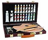 Darice Studio 71Box Ölgemälde Kunst set-27Stück, Holz, braun, 36,5x 23x 5,5cm