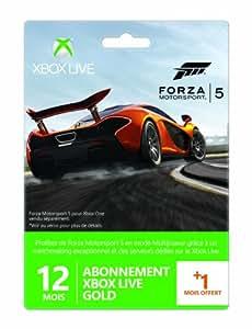Carte Abonnement Xbox Live Gold 12 mois + 1 mois offert - Forza Motorsport 5