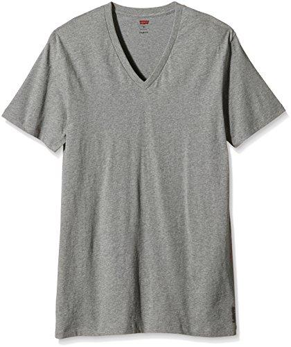 Levi's Herren Unterhemd Levis 200sf V-neck Grau (middle grey melange 758)