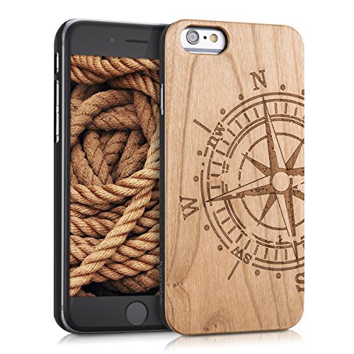 kwmobile-schutzhlle-fr-apple-iphone-6-6s-holz-kunststoff-hardcase-cover-handy-hlle-mit-kompass-desig