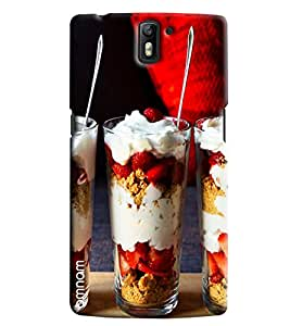 Omnam Ice Cream Glass Printed Designer Back Cover Case For One Plus One
