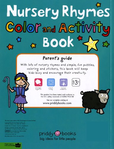 Nursery Rhymes Color and Activity Book
