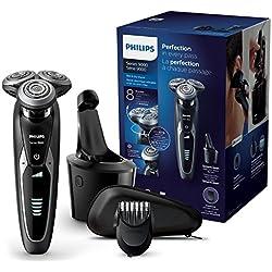 Philips S9531/31 Rasoir électrique Series 9000 avec Système SmartClean Plus et Tondeuse Barbe Clipsable