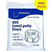 LITTLE WONDERS Babyway Travel Potty Liners double pack//Triple Pack