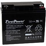 FirstPower Blei-Gel Akku FP12180 12V 18Ah VdS, 12V, Lead-Acid
