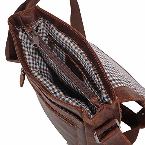 Rada Nature Umhängetasche 'Hobart' echt Leder Handtasche in verschiedenen Farben sandal/tan