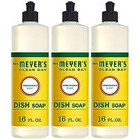 MRS MEYERS Liquid Dish Soap, Honeysuckle, 48 Fluid Ounce