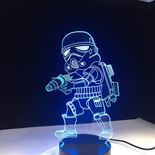 Für Kinder Karton Tudas Vida Lanpara Führte Schlaf Kleine Touch Sensor Usb Tisch Illusion 7 Farbe Stimmung Dekorative Lichter ()