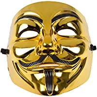 Annonymous Vendetta Mask - Gold or Black (Gold/Black) by Rock
